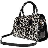 Women's Exotic Leopard / Zebra Print Shoulder Handbag Carrying Purse