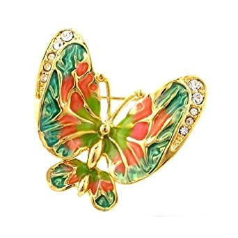 Crystalmood Womens LUX Colorful Butterfly Brooch Swarovski Rhinestones