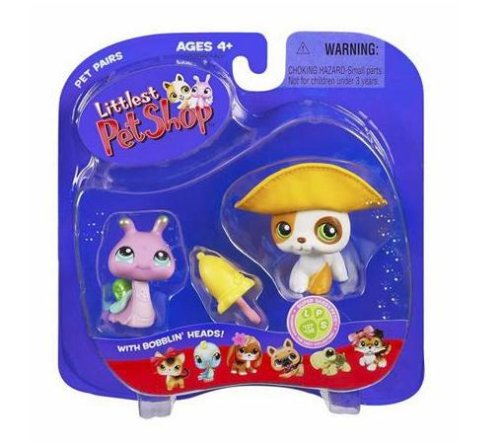 Buy Low Price Hasbro Littlest Pet Shop Pet Pairs Figures Puppy & Snail (B000IHG7G6)