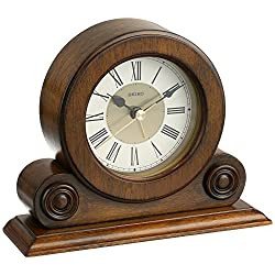 Seiko Desk and Table Alarm Clock Brown Alder Case