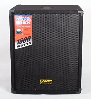 DJTECH VEGASB18X -Watt - Channel Subwoofer from DJ Tech Pro USA, LLC