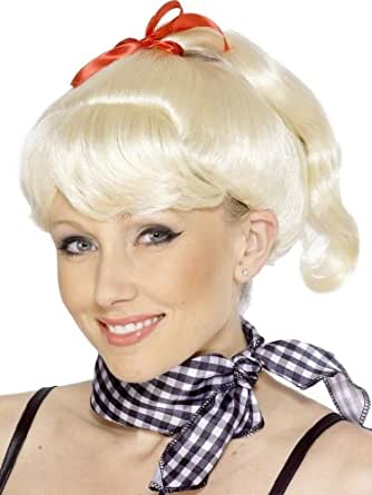 Amazon.com: Grease Sandy Ponytail Wig: Costume Wigs: Clothing