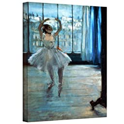 Art Wall \'Dancer in Front of a Window Dancer at The Photographer\'s Studio\' Gallery-Wrapped Canvas Artwork by Edgar Degas, 32 by 24-Inch