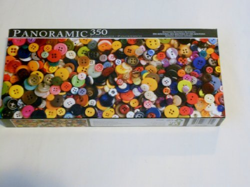 Panoramic 350 Piece Puzzle ~ Buttons, Buttons, Buttons!