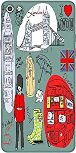 Snoogg London Doodles Designer Protective Back Case Cover For Micromax Canvas Silver 5 Q450