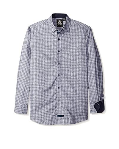 English Laundry Men's Flower Print Long Sleeve Sport Shirt