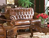 Hot Sale Coaster Loveseat in Brown Tri-Tone Leather