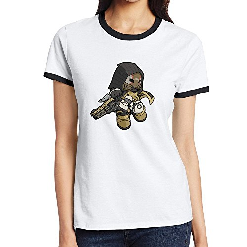 [Custom Women's Funny Two-toned T Shirt Hunter Black Size M] (Costume Quest 2 Player)