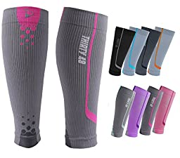 Graduated Compression Sleeves by Thirty48 Cp Series, Calf/Shin Splint Guard Sock; 1 Pair; Maximize Faster Recovery by Increasing Oxygen to Muscles; Great for Running, Cycling, Walking, Basketball, Football Soccer, Cross Fit, Travel; Money Back Guarantee G