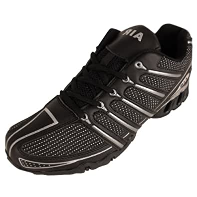 Mens Shock Absorbing Running Trainers Black Jogging Gym Trainer Shoes UK 7