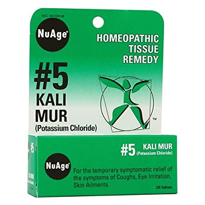 NuAge, 5 Kali Mur (Potassium Chloride), 125 Tablets from NuAge Laboratories