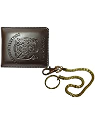 Apki Needs Sweet Brown Men's Wallet And Golden Chain Keychain Combo