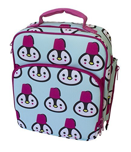 Insulated-Durable-Lunch-Bag-Reusable-Meal-Tote-With-Handle-and-Pockets-Penguin-by-Bentology