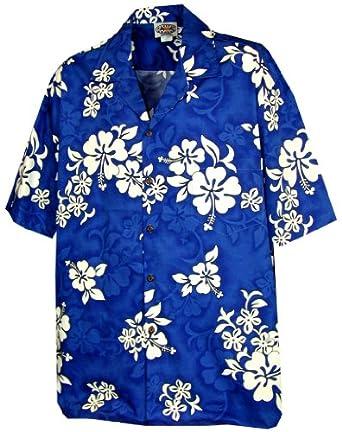 White Hibiscus Mens Hawaiian Shirt-Hawaiian shirts-Hawaiian Clothing