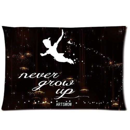 "ARTSWOW ""Peter Pan"" Never Grow Up ""Starry Sky casa Federa cuscino decorativo, 20 x 30 cm, due lati, color-3, 20X30"