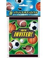 Action Sports Invitations, 8ct