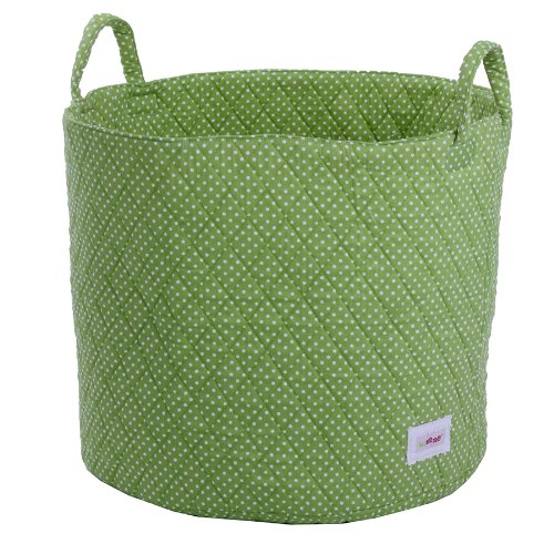 Minene UK Storage Basket (Large, Green/ White Dots)