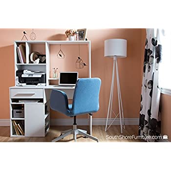 South Shore Annexe Home Office Computer Desk, Pure White