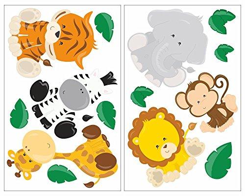 wall-sticker-set-14-piece-jungle-animals-lion-giraffe-monkey-nursery-baby-room-multicoloured-2x-27x4