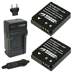 Wasabi Power Battery (2-Pack) and Charger for Sigma BP-41, BC-41 and Sigma DP1 Merrill, DP2 Merrill, DP3 Merrill