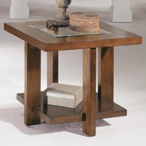 Cheap Hammary T1009710-00 Innova Square End Table in Medium Walnut (T1009710-00)