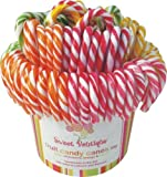 Sweet Boutique 4 Fruit Candy Canes All Natural 28 g (Pack of 24) (Colors may vary)