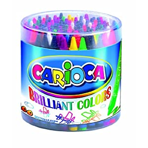 Carioca Regular Wax Crayons Tub (100 Pieces)