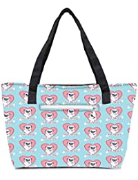 Pack Of 2 Pugs And Kisses Cute Combo Tote Shopping Grocery Bag With Coin Pencil Purse