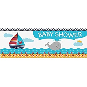 Ahoy Matey Baby Shower Giant Banner from Creative Converting