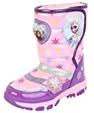 Disney Frozen Elsa Anna Girl's Ligting Purple Winter Warm Snow Boots (Toddler/Youth)