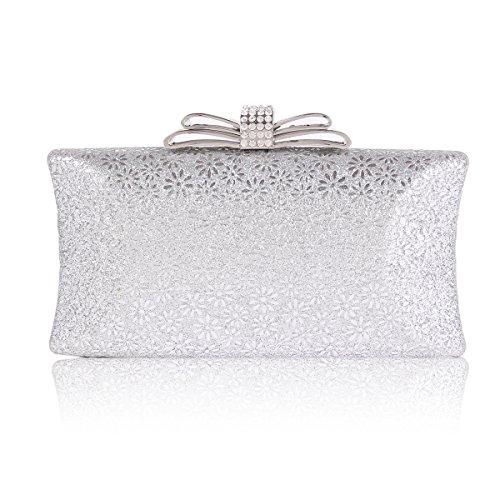 silver prom clutch bags