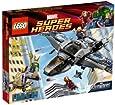 Lego Super Heroes - 6869 - Jeu de Construction - Le Combat Aérien en Quinjet