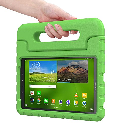 Samsung Galaxy Tab E 8.0 kids case, COOPER DYNAMO Rugged Heavy Duty Children's Boys Girls Toy Bumper Drop Proof Protective Carry Case Cover + Handle, Stand & Screen Protector for SM-T375 T377 Green (Old Book Case For Samsung Tablet compare prices)