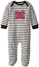 DC Shoes Co Baby-Boys Newborn Black Gray Stripes Sleeper, Multi, 6-9 Months