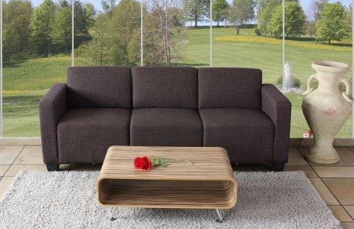 Modular 3-Sitzer Sofa Couch Lyon, Textil ~ braun