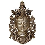 Statue Tara Buddha Mask Religious Gifts and Collectibles Brass 19.05 x 29.21 Cmsby ShalinCraft