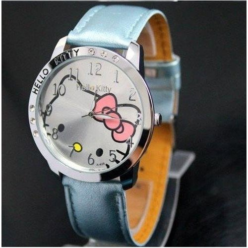 Brand New Hello Kitty Classic Ladies Quartz Wrist Watch Blue Color w/ free Hello Kitty Gift Box