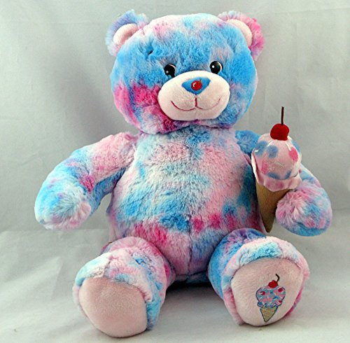 BUILD A BEAR Plush BUBBLE GUM ICE CREAM Teddy BASKIN ROBBINS Pink Blue Cherry (Blue Bubblegum Ice Cream compare prices)