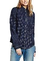 Maison Scotch Camisa Mujer  Azul Marino L (3)