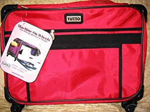 Medium Red Mascot Tutto Machine On Wheels Carrier Case by Mascot
