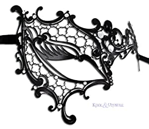 Phantom of the Opera Classic Inspired Venetian Masquerade Party Metal Mask Laser Cut