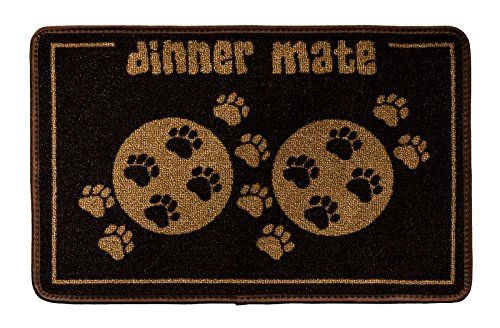 Artikelbild: Pet Rebellion Schutzmatte mit Aufschrift 'dinner mate', 40x60cm, Schwarz