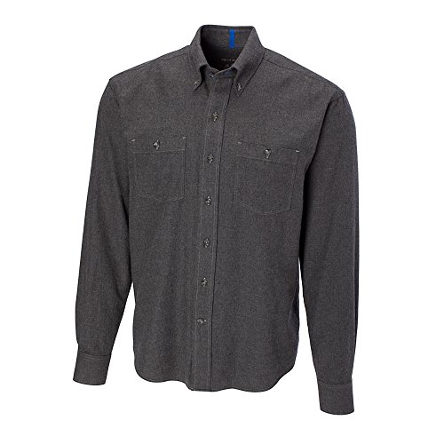 Cutter & Buck BCW01781 Mens L/S Sea-to-Sky Solid, Charcoal Heather-2XB