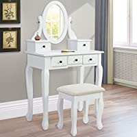 Best Choice Products Vanity Armoire Makeup Table Set