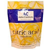 Citric Acid - 1 Pound - Food Grade , Non-GMO, Organic, 100% Pure by Alpha Chemicals