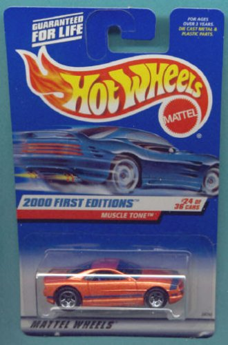 Mattel Hot Wheels 2000 First Editions 1:64 Scale Orange Muscle Tone Die Cast Car #024 - 1