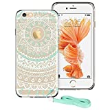 iPhone 6, iPhone 6 Case, iPhone 6 Case Clear, ESR Totem Series Hybrid Case [One Piece] TPU Bumper +Hard PC Back Cover Protective Case for iPhone 6s/iPhone 6 (Mint Mandala)