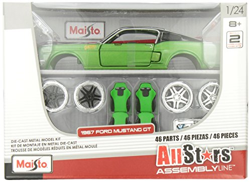 Maisto 1:24 Scale All Star Assembly Line 1967 Ford Mustang GT Diecast Model Kit - Colors May Vary (Diecast Model Cars compare prices)