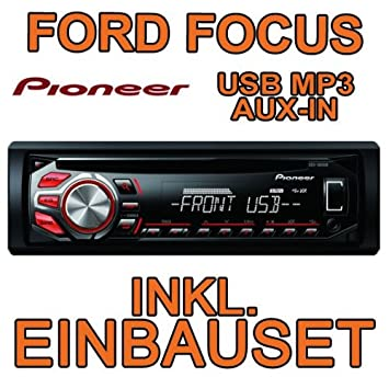 Pioneer DEH1600UB Autoradio CD/MP3/USB avec kit de montage encastré pour Ford Focus MK1