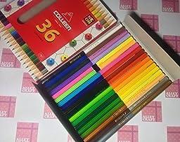 Genuine Colleen Pencil Colour Set 12 18 24 36 ( Alley \'s Craft ) (18 pencil/ 36 colors)